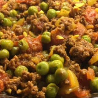 Kheema Matar (Beef and Pea Curry).