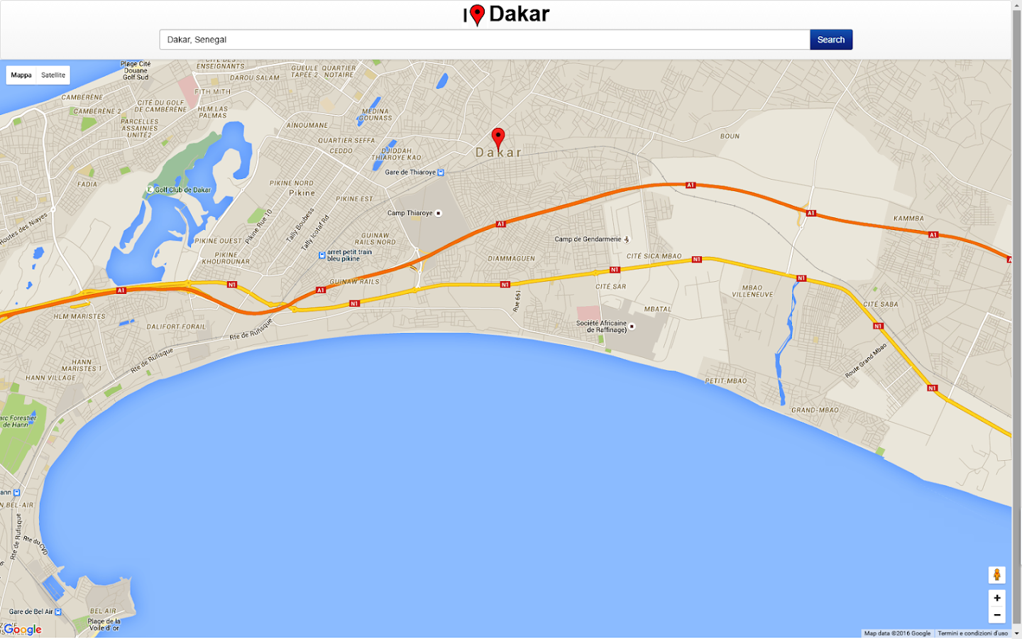 Dakar Map Android Apps On Google Play - Pikine map