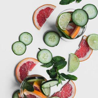 Cucumber Grapefruit Spa Water.