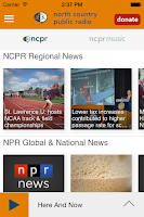 Screenshot of NCPR Public Radio App