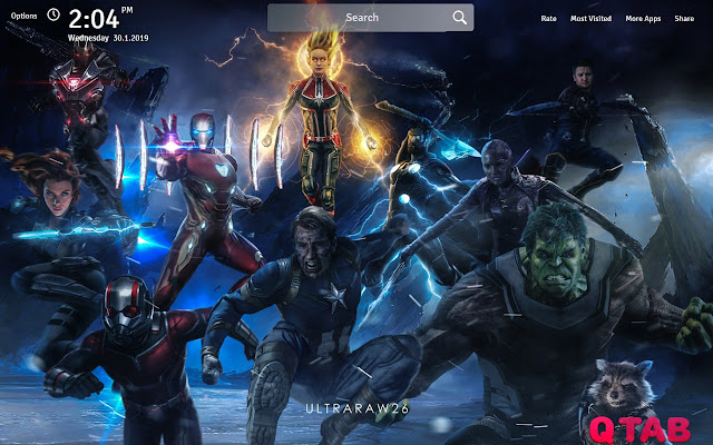 Avengers Endgame Wallpapers New Tab