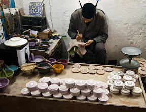 Photo: The pottery factory - every pattern painted is handdrawn to patterns hundreds of years old