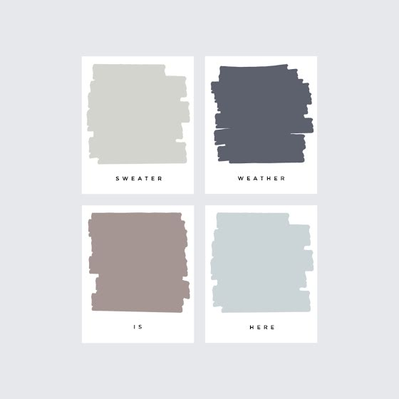 Sweater Weather - Color Palette Template