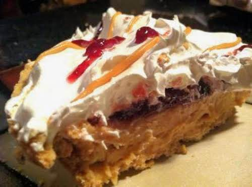 """Easy Peanut Butter N Jelly Pie """"It's easy to prepare and even..."""