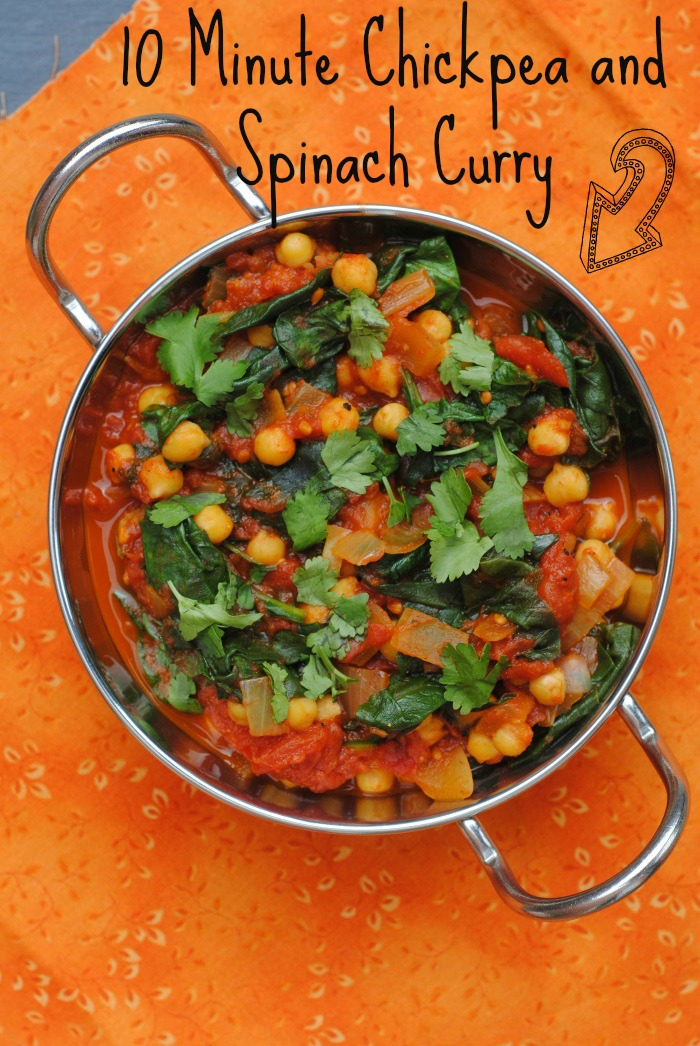 10 Minute Chickpea and Spinach Curry Recipe | Yummly