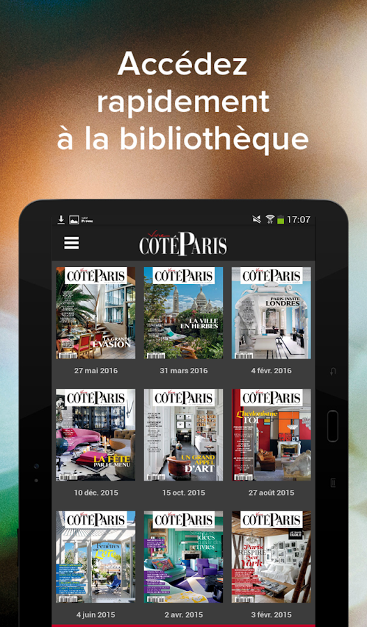 Côté Paris - magazine 1.0- screenshot