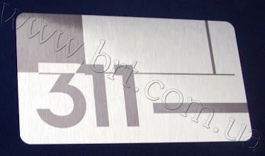 Photo: Номерок на дверь. Металл серебристого цвета, печать с попаданием в фирменный цвет