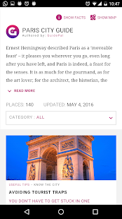 Paris City Guide- screenshot thumbnail