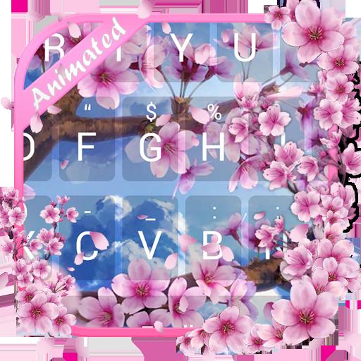Flying Sakura Theme&Emoji Keyboard