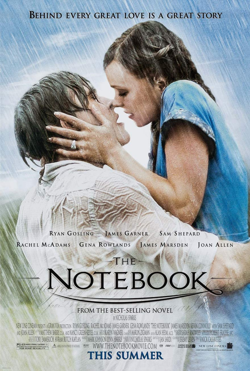 Amazon.com: THE NOTEBOOK MOVIE POSTER 1 Sided ORIGINAL 27x40 RYAN GOSLING:  Prints: Posters & Prints