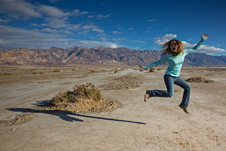 Photo: Jumping for Badwater