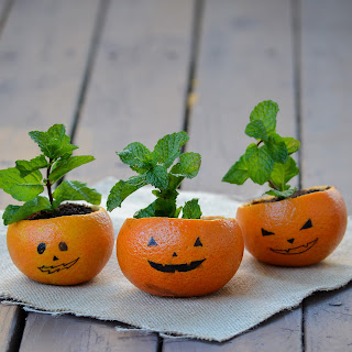 Jack-O-Lantern Fruit Bowls Recipe