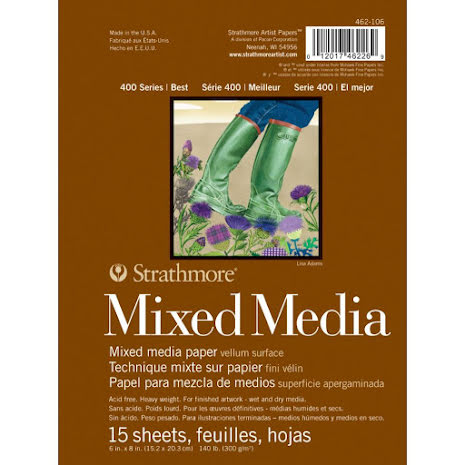Strathmore Mixed Media Vellum Surface Paper Pad 6X8 - 15 Sheets