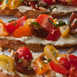 Tomato Crostini with Whipped Feta Recipe