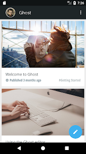 Ghost - Professional Blogging - náhled