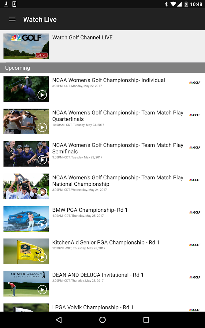 Golf Channel Mobile Android 13