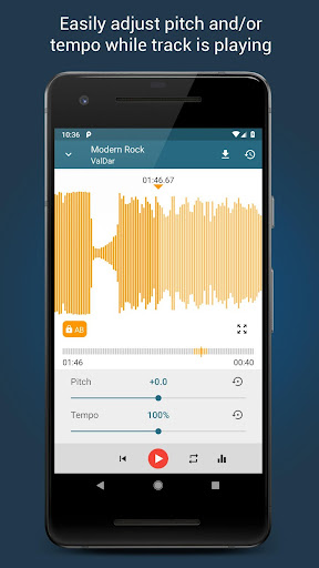 Music Editor Pitch and Speed Changer : Up Tempo 1.15.1 Screenshots 1