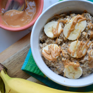 Peanut Butter & Banana Overnight Oats.
