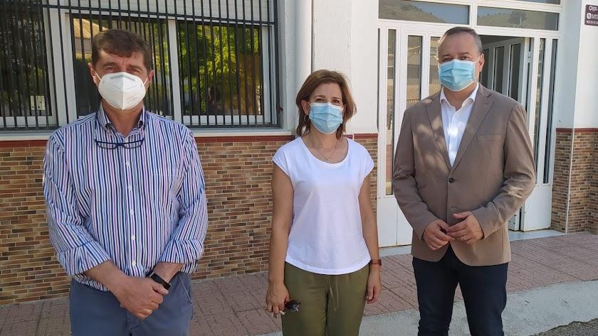 Visita del delegado al municipio de Oria.