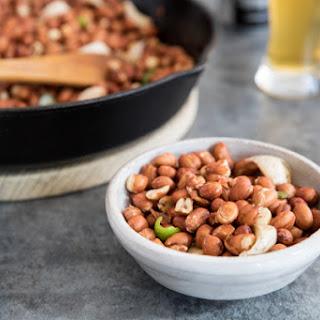 Pan Fried Spicy Garlic Peanuts.