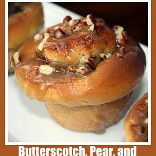Butterscotch, Pear, and Hazelnut Sticky Buns