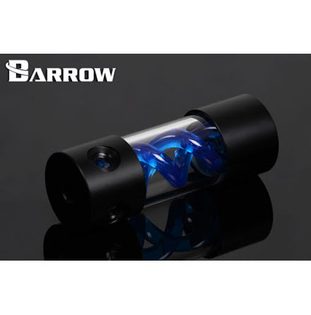 Barrow vanntank m/Blue Helix, 155, Ø=50mm, l=155mm, Black, Plexi