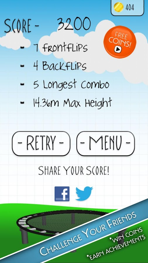 Stickman Trampoline PRO - screenshot