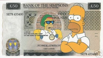 Simpsons Bank Note