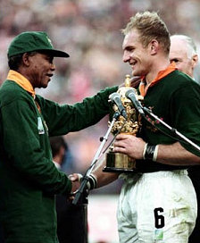 Pienaar and Mandela