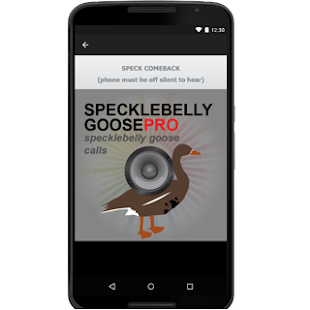 Specklebelly Goose eCaller- screenshot thumbnail
