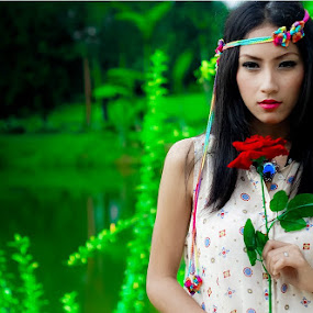 rose 2 by Happy Cristian Karundeng - People Portraits of Women