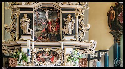 Photo: Altaraufsatz von 1659 in der Kirche zu Egestorf.