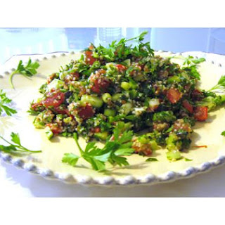 Tabbouleh With Sun Dried Tomatoes and Roasted Red Peppers