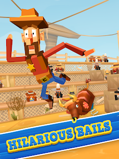 Blocky Bronco: Wild West Rodeo Screenshot