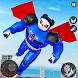 空飛ぶパンダロボットヒーロー:警察のロボット射撃