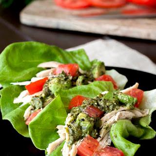 Chicken Lettuce Wraps w/ Avocado Chimichurri Sauce