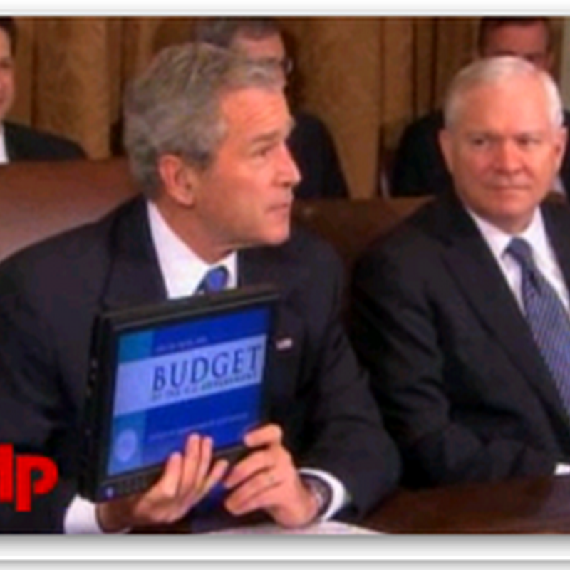 An e-Budget - Bush and a Tablet PC