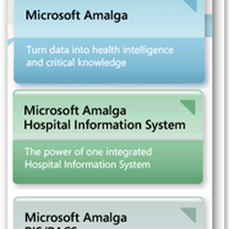 Microsoft Renames Its Enterprise Health Care Software - Amalga