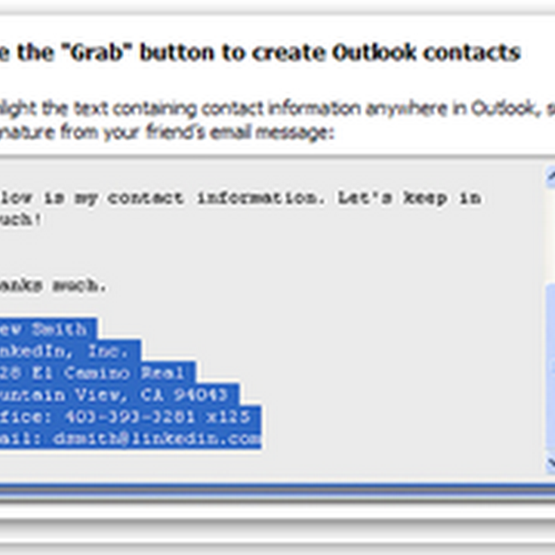 LinkedIn Tools: Outlook Toolbar
