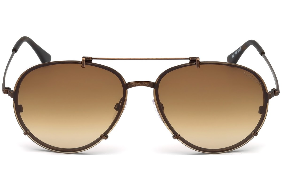 19f32b22728 Sunglasses Tom Ford Dickon FT0527 C59 49J (matte dark brown   roviex)