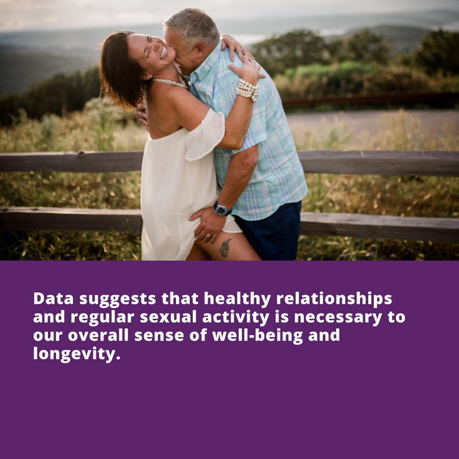 Dating in Your 40s - Data suggests that healthy relationships and regular sexual activity is necessary to our overall sense of well-being and longevity