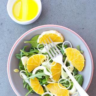 Simple Arugula, Fennel & Leek Salad w Citrus