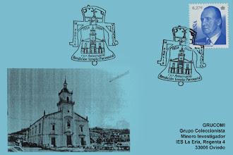 Photo: Matasellos del 150 Aniversario de la Bendición del Templo Parroquial de Vegadeo en 2004