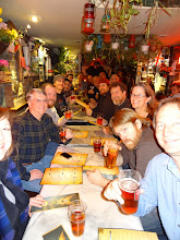 Photo: Here's the hungry group at Churchill Arms Fullers pub in London ready for some spicy Thai cuisine.