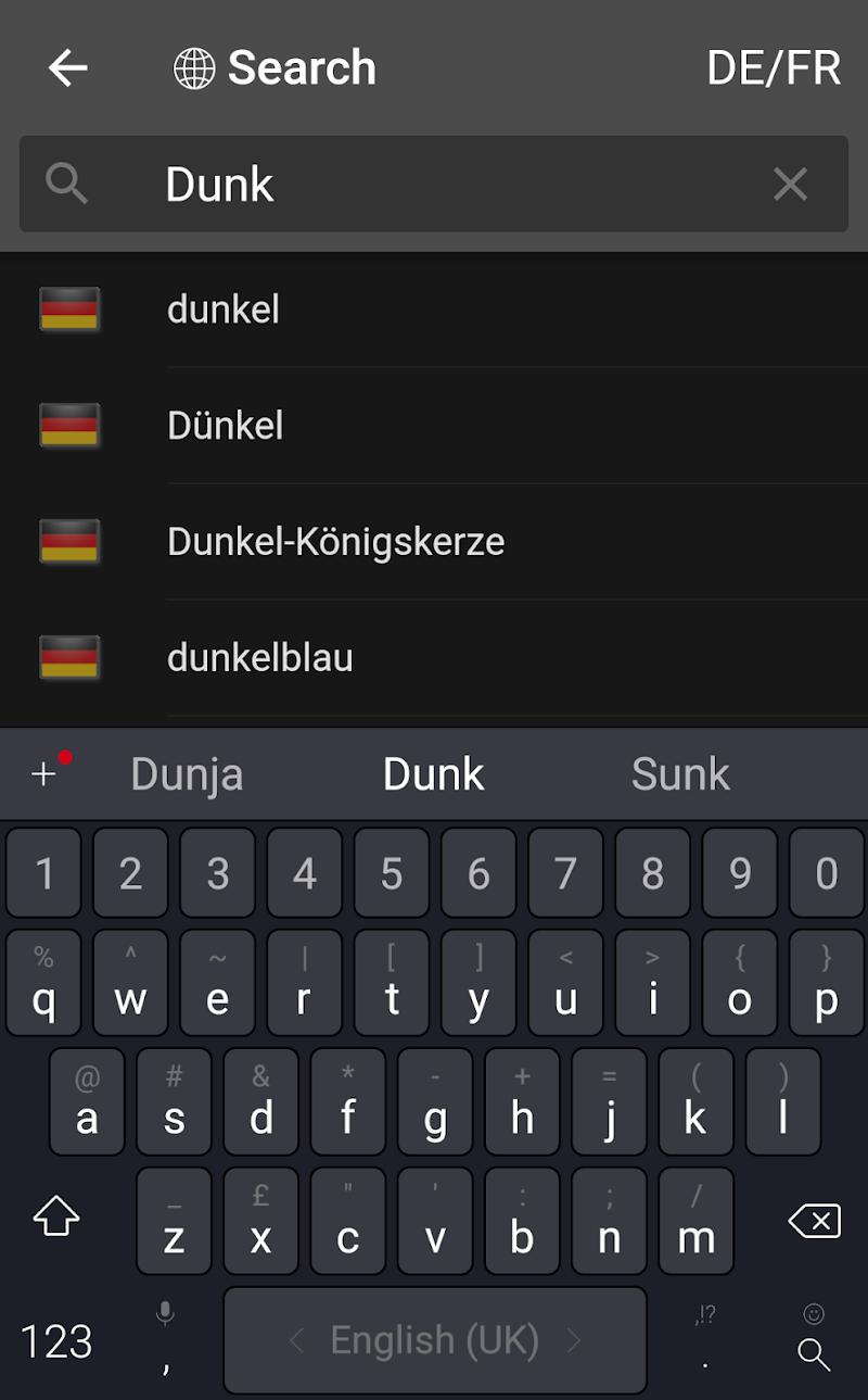 dict.cc+ dictionary Screenshot 2