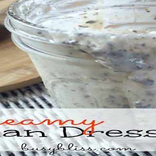 Homemade Creamy Italian Dressing.