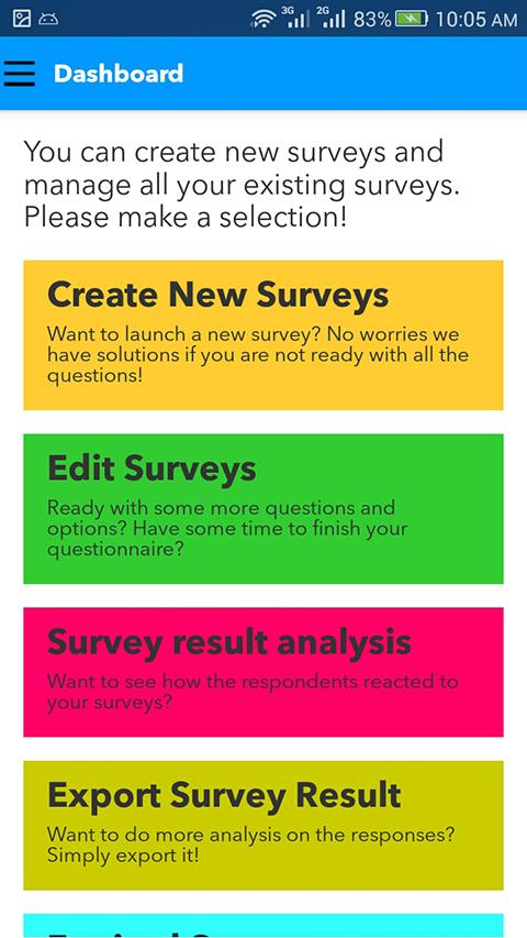 Survey App- screenshot