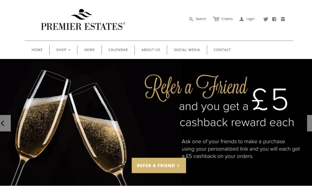 Premier Estates Wine Referral Program