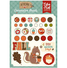 Echo Park Decorative Brads 30/Pkg - Celebrate Autumn UTGÅENDE