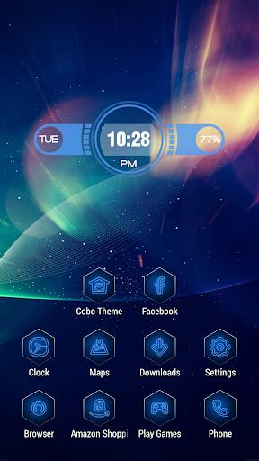 Brilliant blue light theme